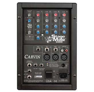 S400D - Cassa amplificata a batteria con mixer ed effetti - Carvin